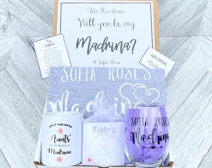 Madrina Gift - Madrina Box - Madrina Proposal - Personalized Madrina Gift - Will you be My Madrina Box
