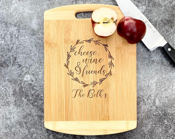 Wood Engraved Custom Cutting Board - Anniversary or Wedding Gift - Personalized Cutting board with Name