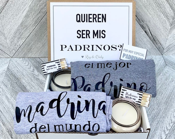 Padrinos Box - Personalized Padrino and madrina Gift - Will you be My padrinos Box