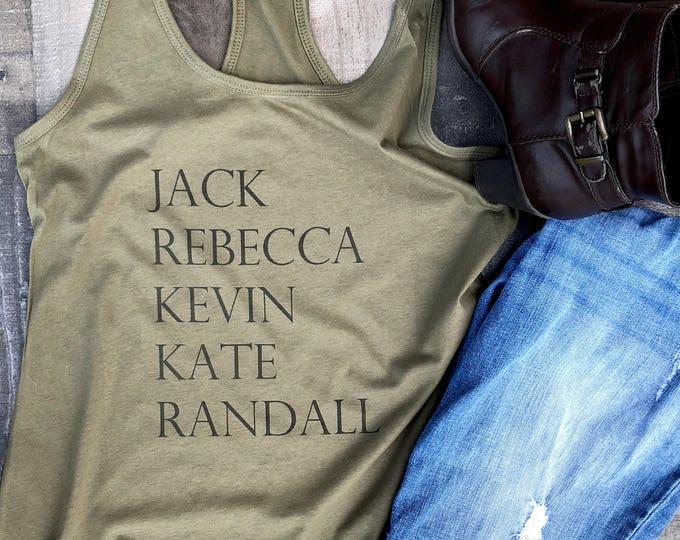 Jack Rebecca Kate Kevin Randall Tank Top