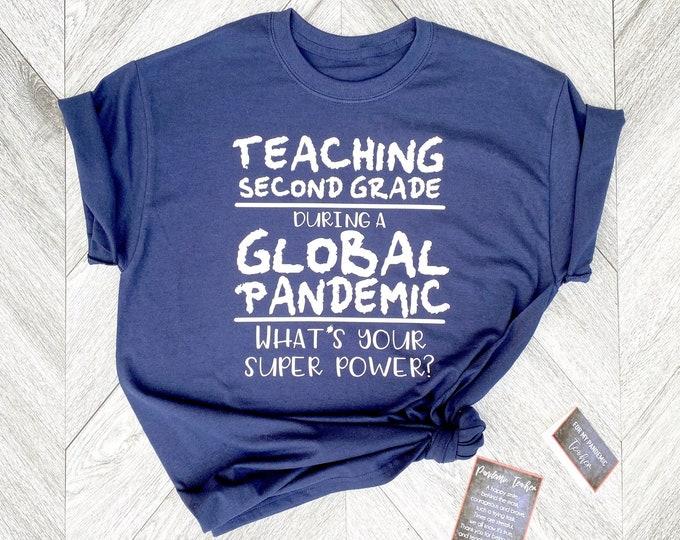 Pandemic Teacher Shirt - Personalized TeacherShirt - Quarantine Teacher  Shirt with Grade Level