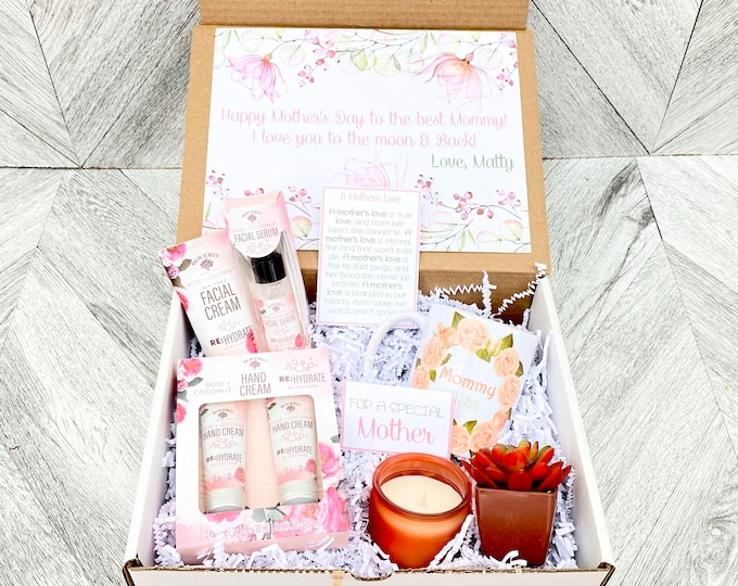 Mom Spa Gift Set - Lotion and Face Cream gift box  - Mother's Day Gift - Luxury Spa Set