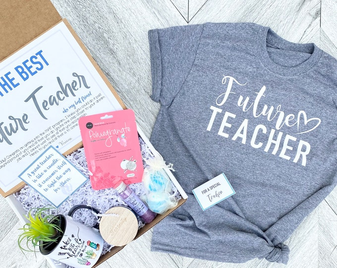 Future Teacher Gift Box Set - Complete Teacher Graduate Spa Set with Mug and Shirt - Prospective Teacher
