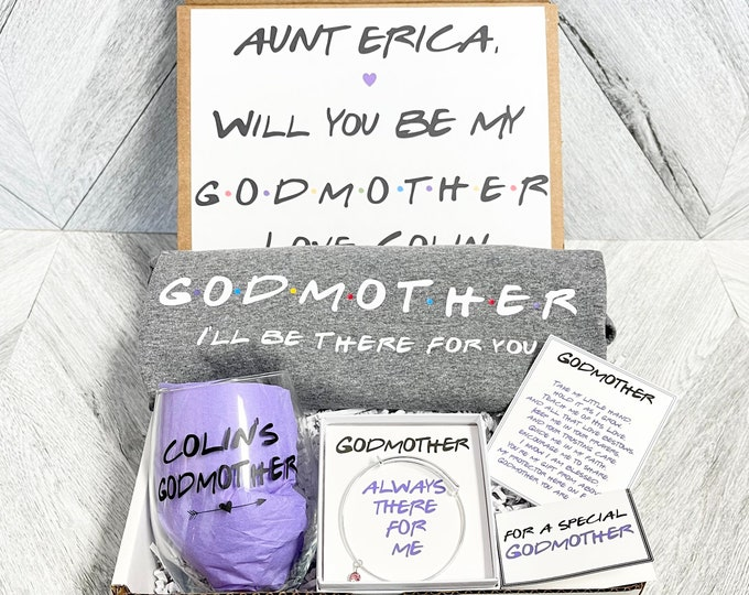 Godmother Gift - Godmother Box - Godmother Proposal - Personalized Godmother Gift - Will you be My Godmother Box - I'll be there for you