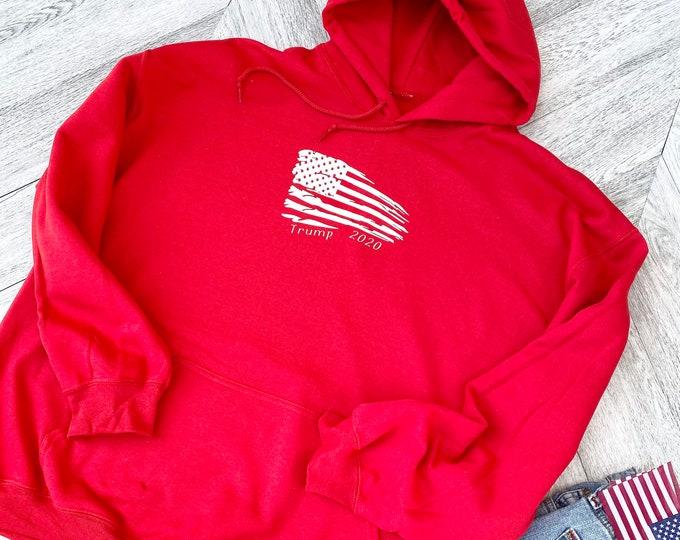 Trump Hooded Sweatshirt - Trump 2020 - Keep America Great  - Trump Train -  Patriotic Sweatshirt - Trump Gear - Vote for Trump