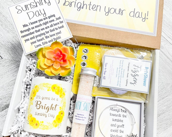 Box of Sunshine - Feel Better Gift Box - Brighten Your Day Box - Sunshiny Day - Sunshine Spa Set - Gifts for Her