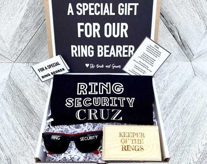 Ring Bearer Gift Set - Ring Security - Ring Bearer Proposal - Will you be my Ring Bearer - Gift Box