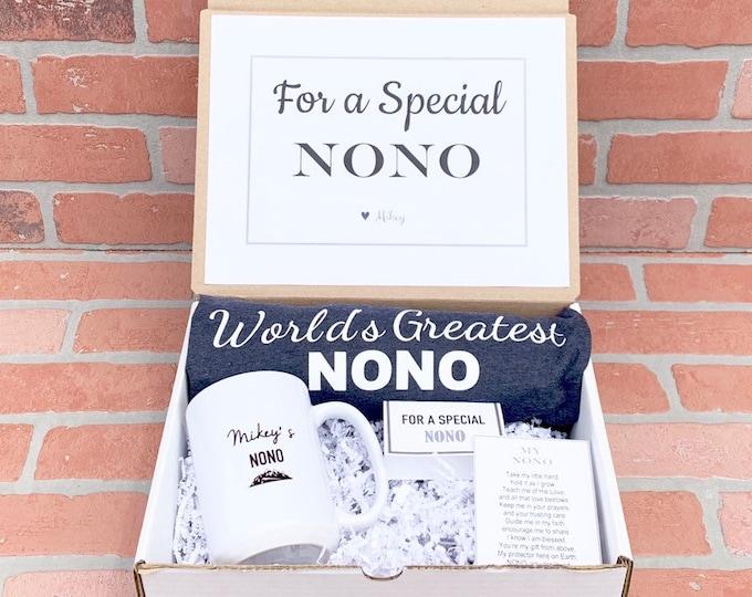 Nono Gift - Nono Box - Filled with Nono Mug, Nono Shirt, Poem card and Note Card