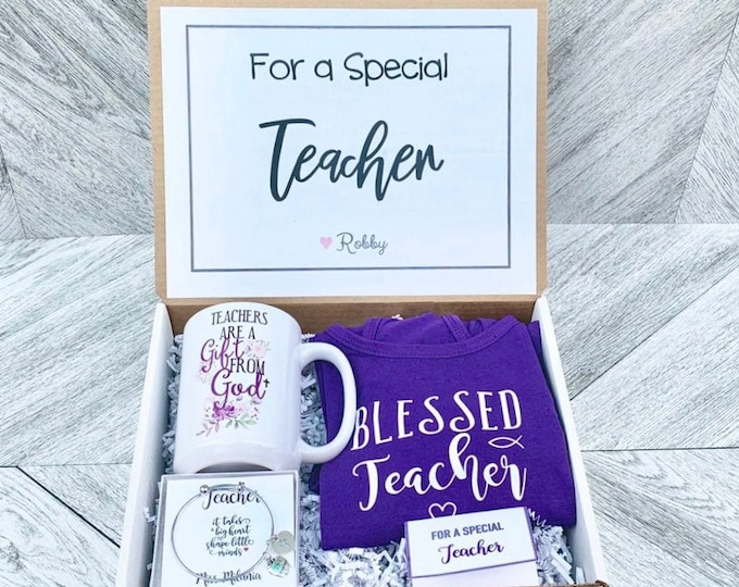 Teacher Gift Box - Personalized Teacher Gift - Christian Teacher - Catholic Teacher Gift