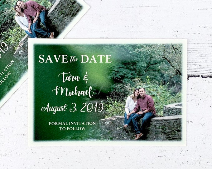Save The Date Photo Cards / Personalized Save the Dates / Printed and Shipped with envelopes