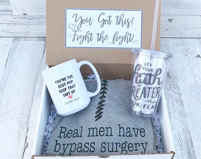 Cardiac survivor - Get Well soon Box - Personalized Get Well Soon Box - Faith Box - Feel Better Box - bypass survivor