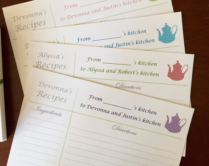 Printable Personalized Recipe Cards