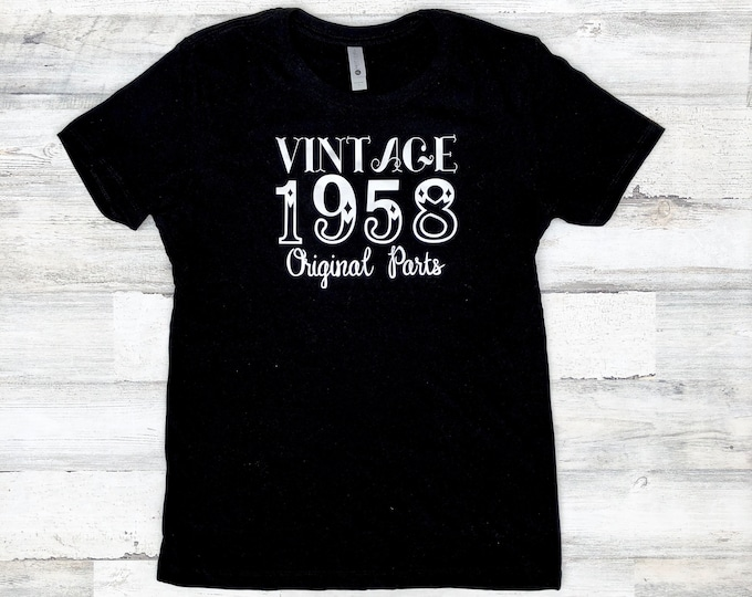 Vintage Birthday Shirt - Original Parts - Funny Birthday Shirt Idea