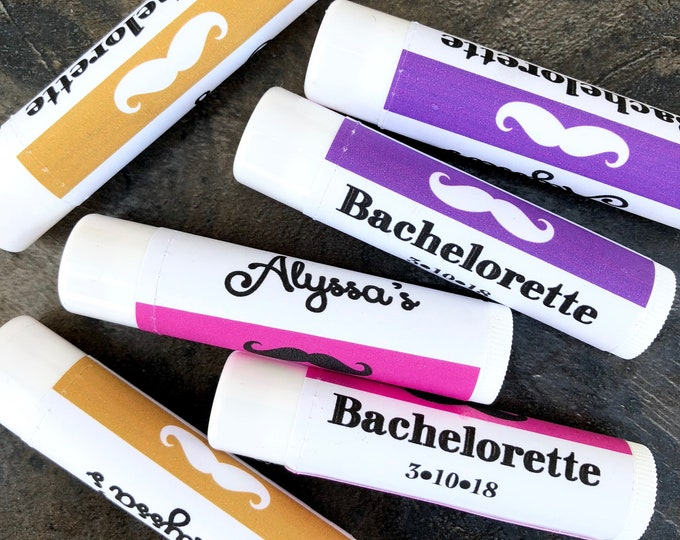 Bachelorette Lip Balms / Chapstick Favors / Last Kiss / Kiss the Miss goodbye / Kissing the Single Life Goodbye