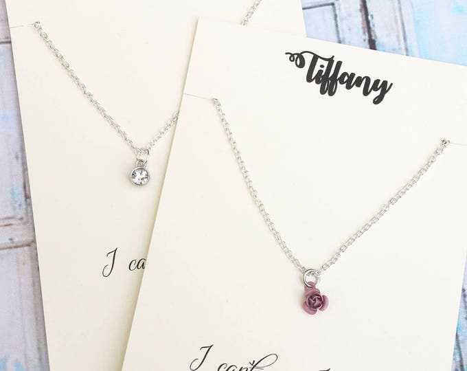 I Cant Say I Do Without You - Bridesmaid Necklace - Proposal Jewelry - Bridal Party Proposals
