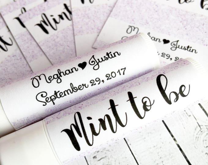 Customizable Glitter Chapstick Labels / Lip Balm Labels / Chapstick Favors Bridal Shower / Baby Shower / Wedding Favors / Pink Glitter Label