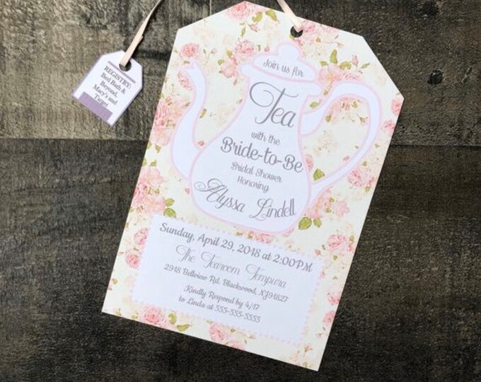 Tea Party Invitations Self Printable