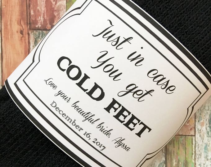 Personalized Socks - Just in Case You Get Cold Feet Socks for the Wedding Day - Groom Gift from Bride - Funny Groom Gift