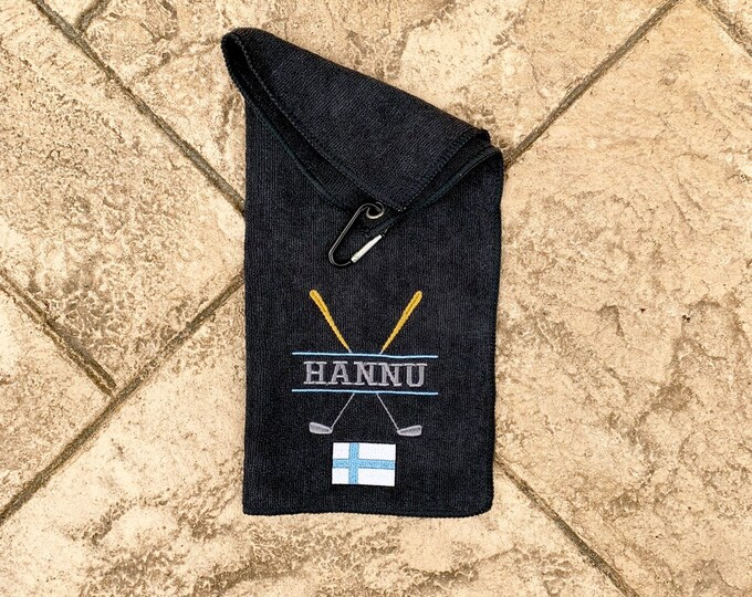 Finland Golf Towel - Personalized Embroidered Golf Towel