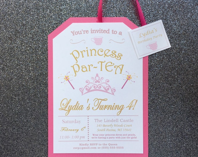 Little Girl's Pink Princess Tea Party
