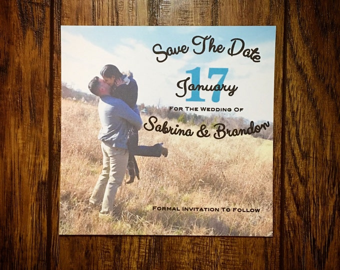 Sets of 10 Save The Date Photo Cards