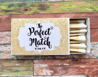 Match Made In Heaven Personalised Wedding Matchbox Favors Gifts for Guests