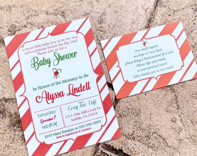 Additional insert Cards for Bridal or Baby Shower Invitations