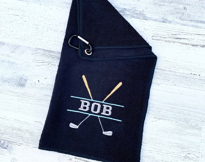 Golf Towel - Personalized Embroidered Golf Towel - Name embroidered Golf towel - Gift for Golf Lover