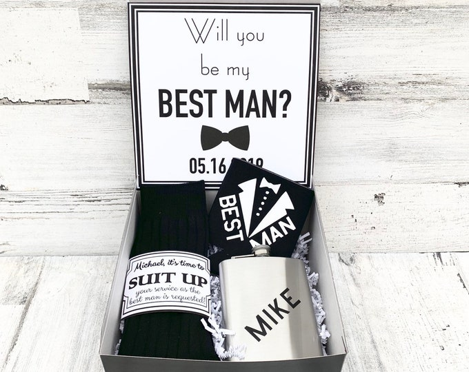 Best Man Gift Boxes - Thank you for being my Best Man or Groomsman  - Proposals - Will you be my Best Man Gift Box