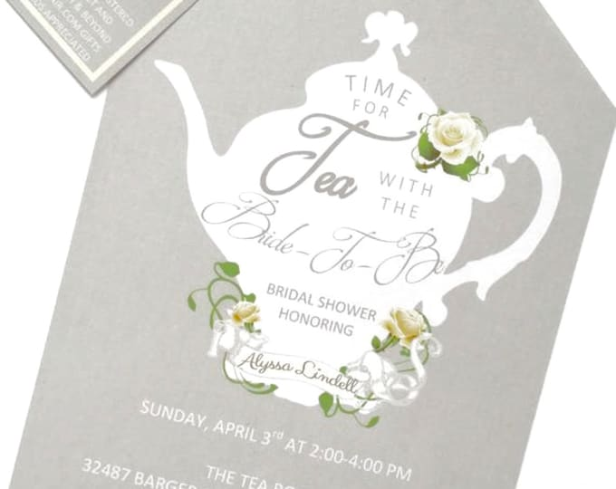 Tea Party Shower Invitations Tea Pot Style