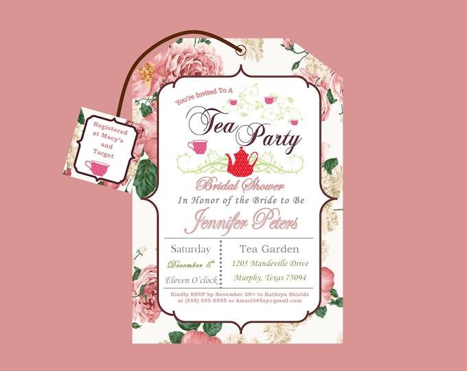 Printable Tea Party Bridal Shower Invitation
