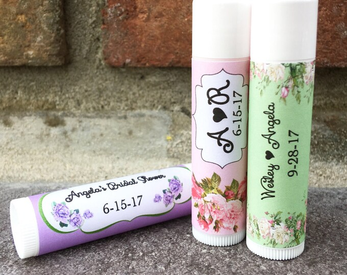 Lip Balm Favors / Chapstick Favors Bridal Shower / Baby Shower / Wedding Favors / Keep Save