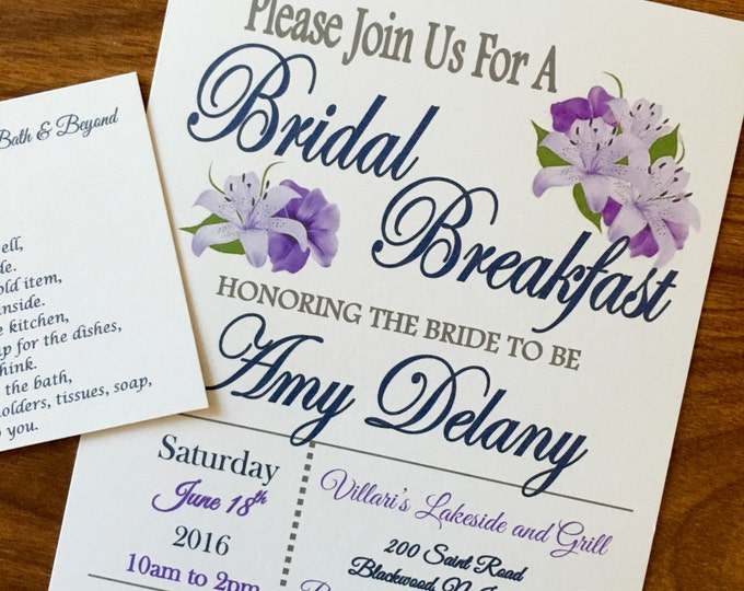 SELF PRINT Bridal Breakfast Bridal Shower Invitation