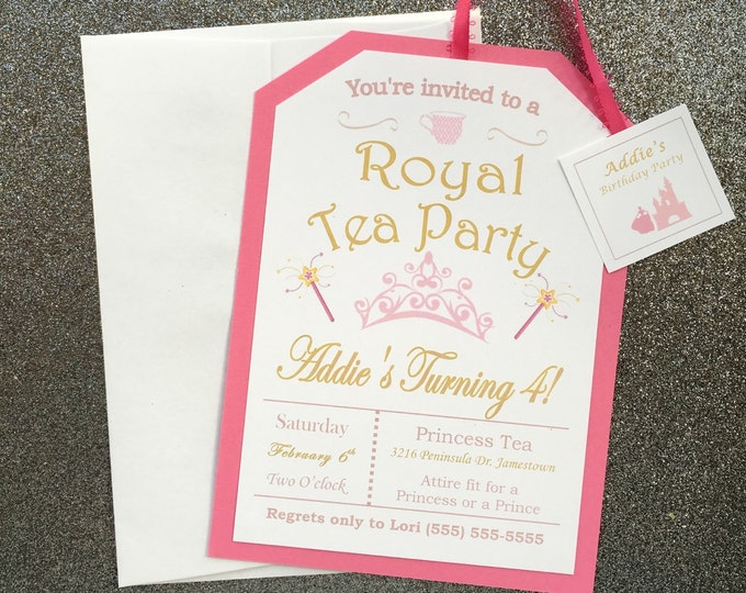 Little Girl's Pink Royal Princess Tea Party