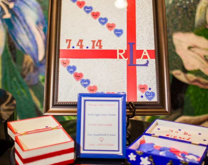 Wedding Frame Guestbook with Hearts
