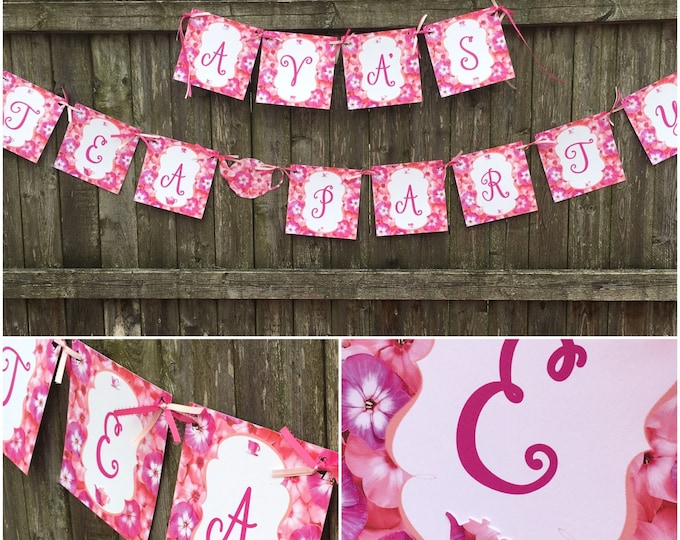 Birthday Banner Tea Party! Customizable