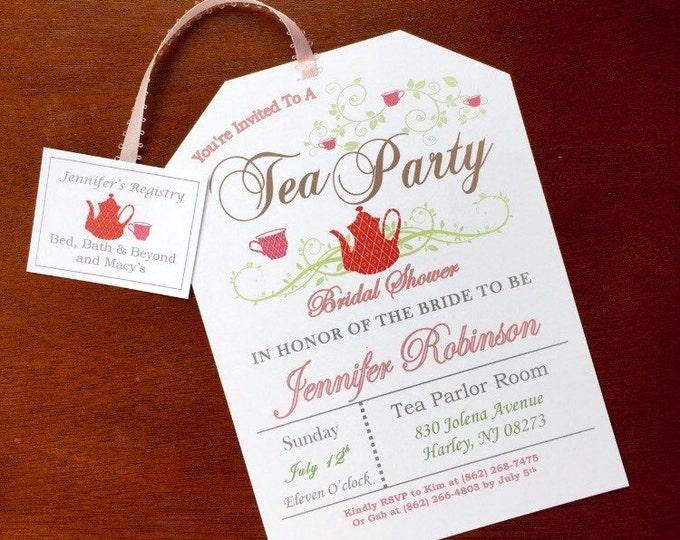 Tea Party Invitations Self Printable