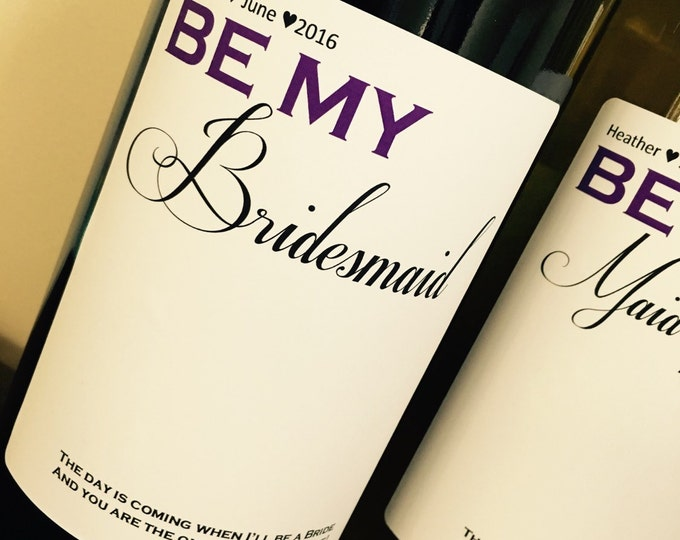 Bridal Party Wine labels - Will you be my bridesmaid