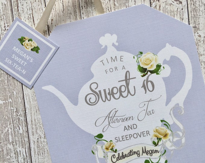 Sweet 16 Invitations - Tea Party Birthday Invitation - Sweet Six Tea N
