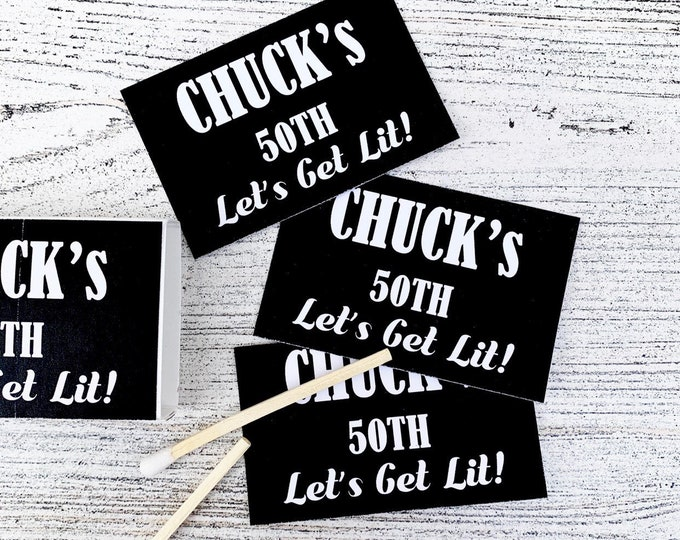 Matches Favor Labels Only  - Birthday Party Favors - Black and White Matchbox Favors - Matchbox Favors - Customizable