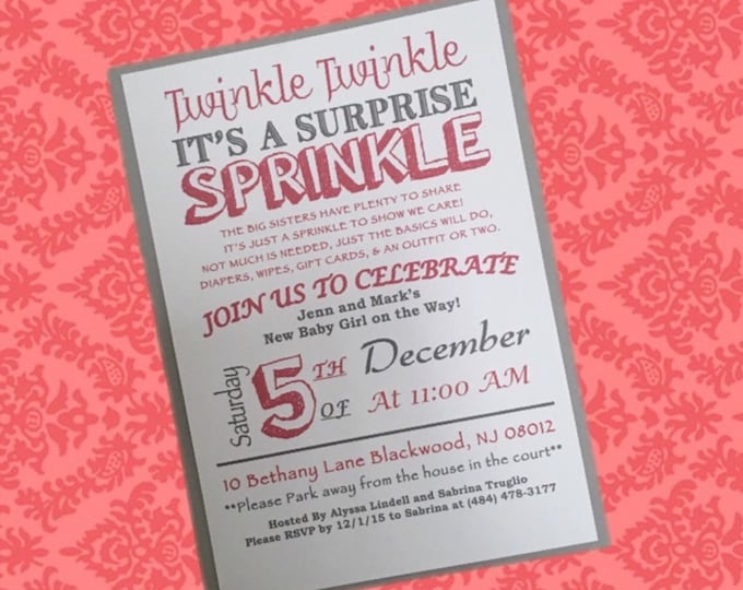 Twinkle Twinkle, its a Sprinkle Shower Invitations