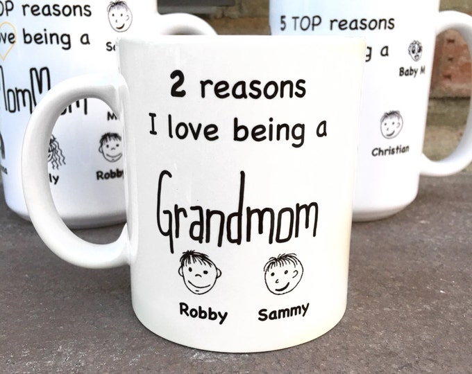 Grandmom Mug Gift - Reasons I love Being a Grandmom - Mother's Day gift - Mother's Day Mug - Personalized Mug