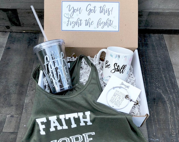 Get Well soon Box - Personalized Get Well Soon Box - Faith Box -  Fearfully and Wonderfully Made - Feel Better Box - Faith Hope Love