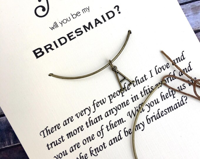 Will you be my Bridesmaid/Maid of Honor Personalized Bronze Bangle- Proposal Jewelry - Bridal Party Proposals