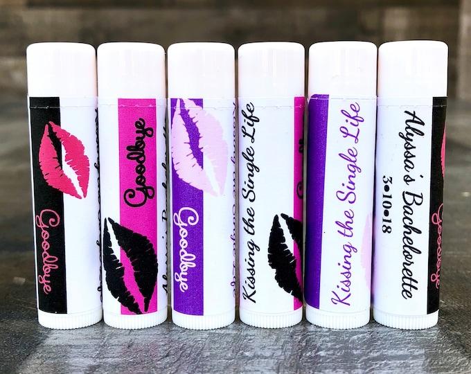 Kiss the Miss goodbye Labels / Bachelorette Lip Balm Labels / Chapstick Favors / Last Kiss / Customizable / Chapstick Favors Bachelorette Pa