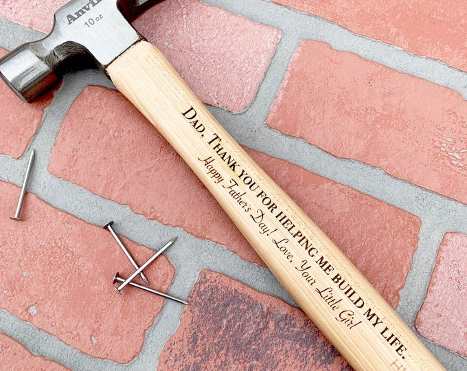 Engraved Hammer - Father's Day Gift - #1 Dad - Personalized Hammer