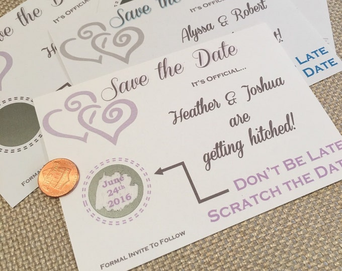 Save The Dates - Scratch off style