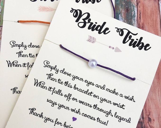 Bride Tribe - Make a wish Bridal Jewelry for Bridesmaid and Bridal Party - Bridesmaid Gifts
