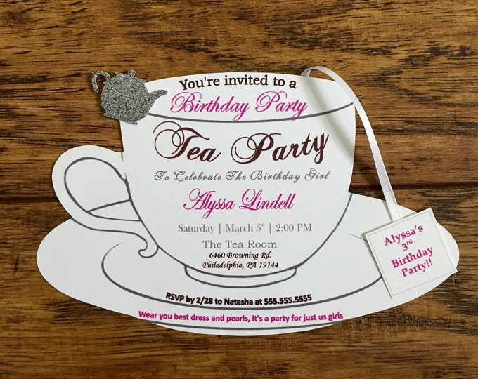 Tea Party Invitation!