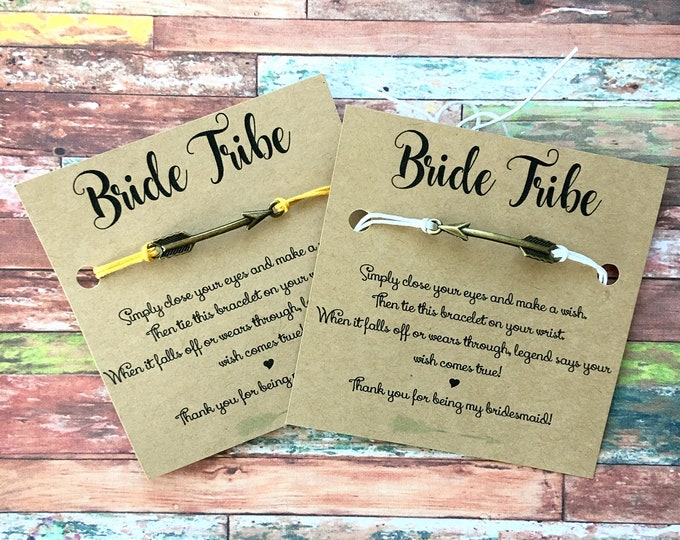 Bride Tribe - Make a Wish Bridal Jewelry for Bridesmaid and Bridal Party - Bridesmaid Gifts or Proposals